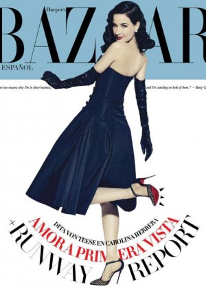 Dita Von Teese - Harper's Bazaar Mexico Cover (February 2015)