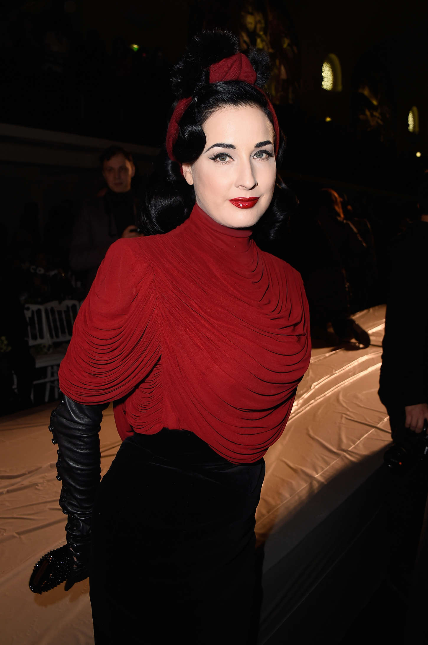 Dita Von Teese presented the first dress in the world, printed on a 3D printer 16.03.2013 95