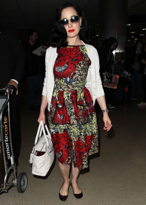 Dita Von Teese - LAX Airport in LA