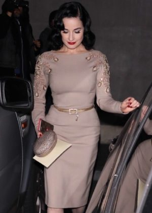 Dita Von Teese - Leaving a gallery opening in West Hollywood