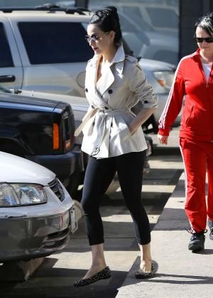 Dita Von Teese in Leggings Leaving a pilates studio in LA