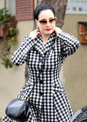 Dita Von Teese - Leaving a yoga class in Los Angeles