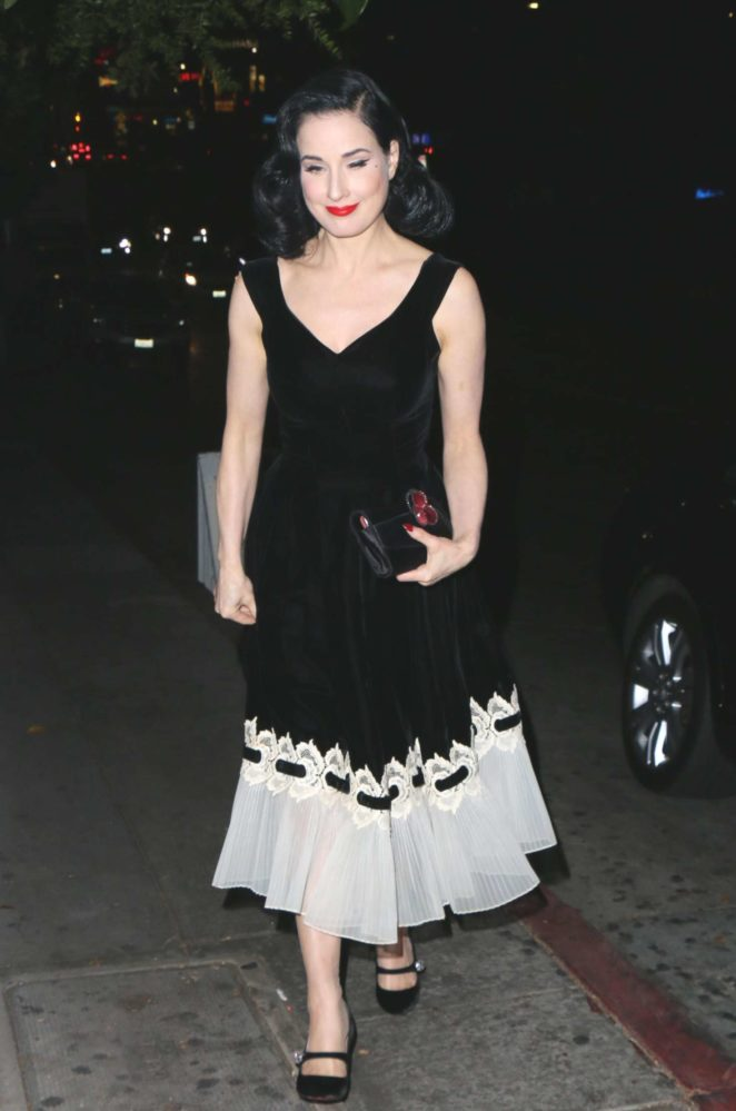 Dita Von Teese - Leaving an event at The Chateau Marmont in LA