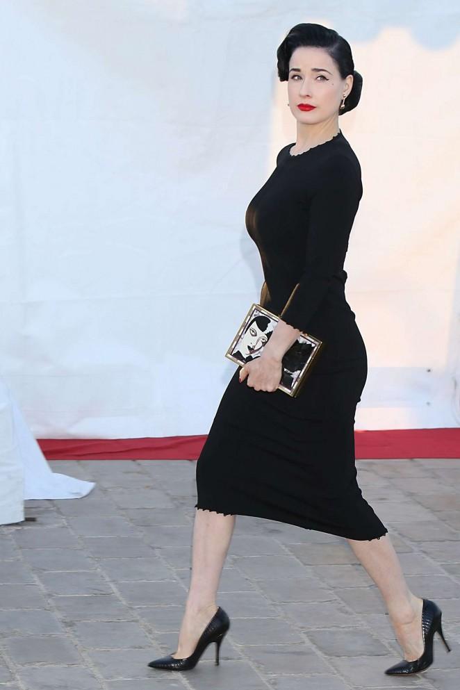 Dita Von Teese In Black Dress 05 Gotceleb