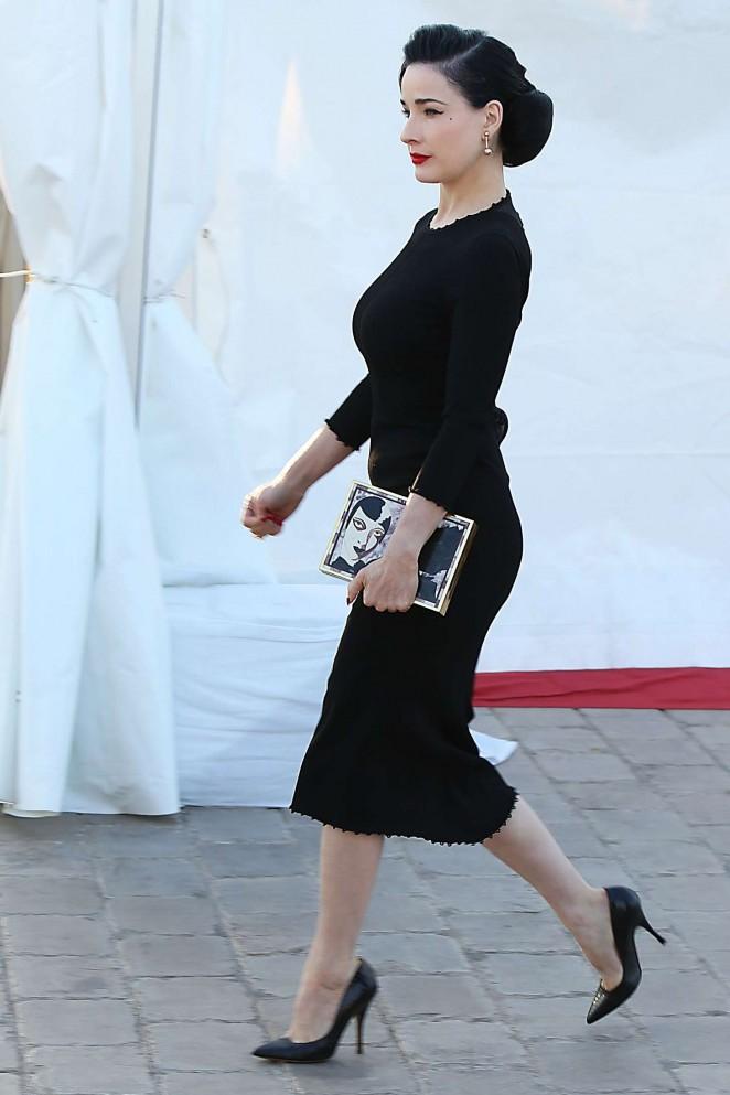 Dita Von Teese In Black Dress 08 Gotceleb