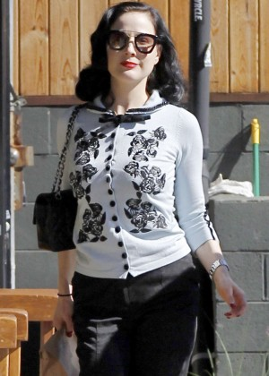 Dita Von Teese out in Los Feliz