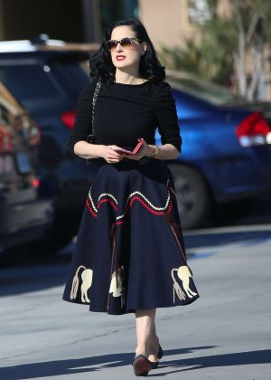 Dita Von Teese out Shopping in Glendale