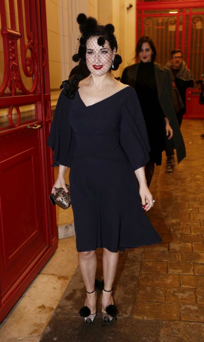 Dita von Teese - Paris Fashion Week Haute-Couture Spring/Summer 2015