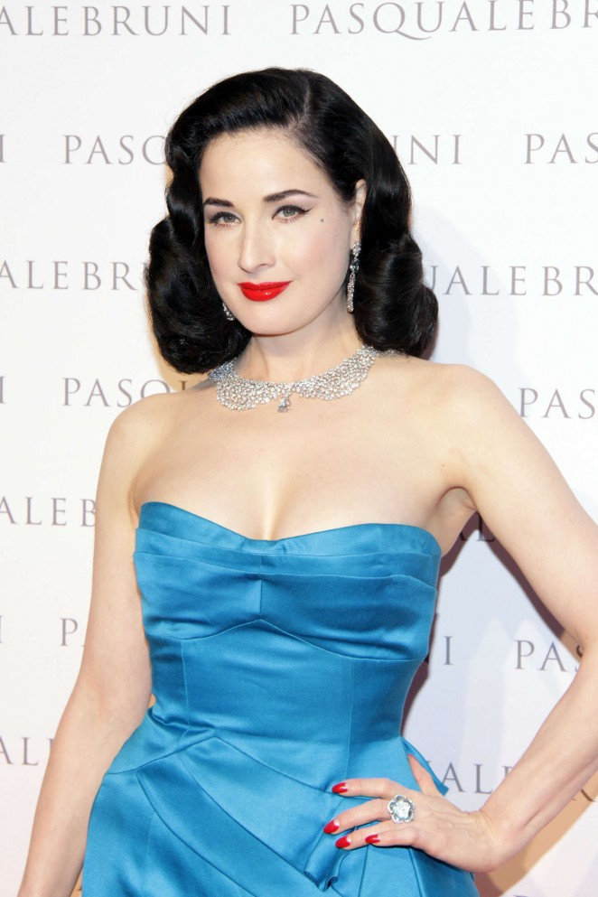 Dita Von Teese - Pasquale Bruni Secret Gardens Collection Cocktail Party in Milan