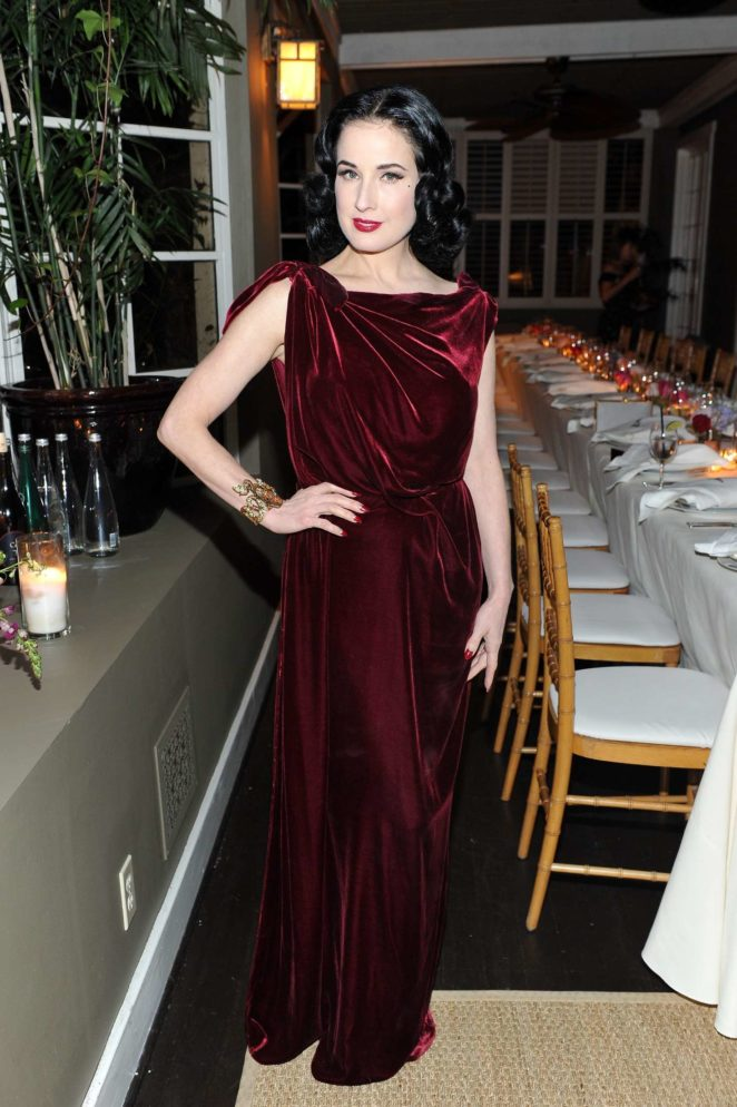 Dita Von Teese - Roland Mouret's The Dinner of Love in LA