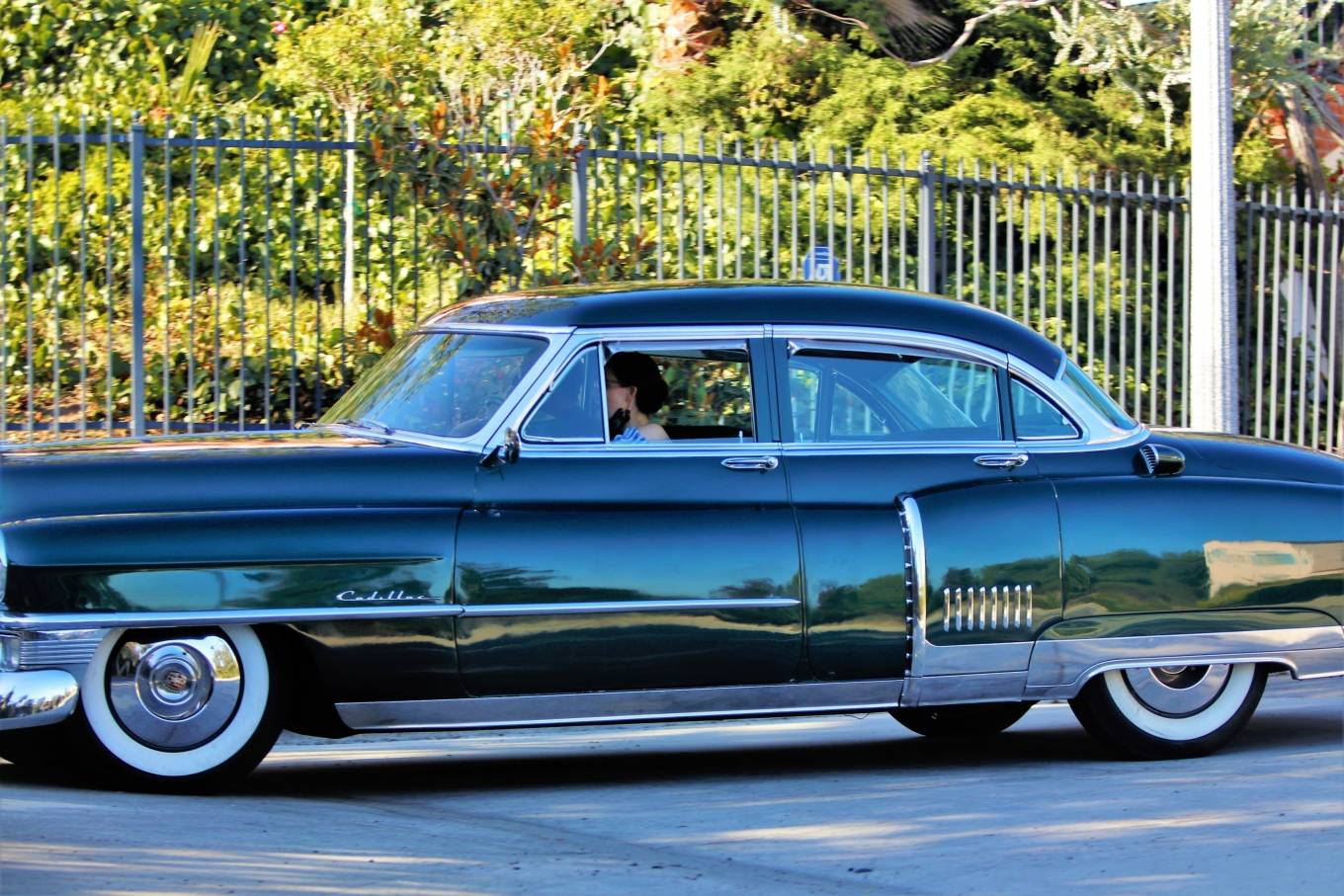 Dita Von Teese 2020 : Dita Von Teese – Takes her clean classic Chevy for a cruise in Los Angeles-04