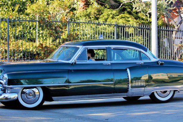 Dita Von Teese - Takes her clean classic Chevy for a cruise in Los Angeles