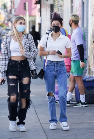 Dixie D'Amelio - With friend spotted getting coffee on Melrose Ave in West Hollywood