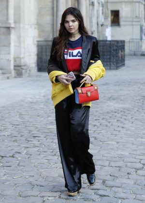 Doina Ciobanu - Attends Paul Smith Fall-Winter Show 2017/18 in Paris