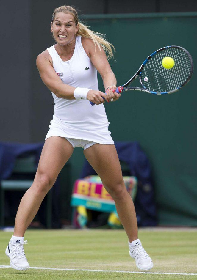 Dominika Cibulkova 4th Round Match 2016 In Wimbledon
