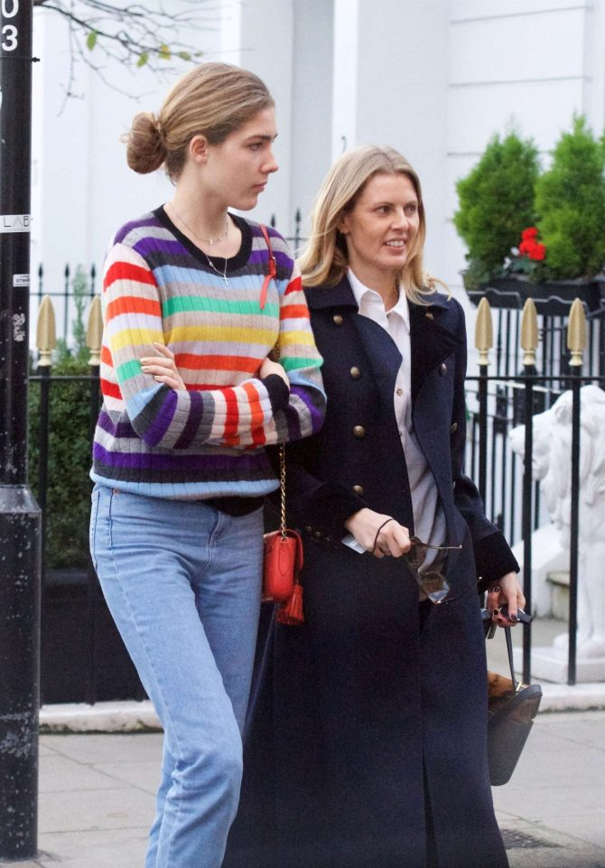 Donna Air and daughter Freya Aspinall – Christmas Shopping in London