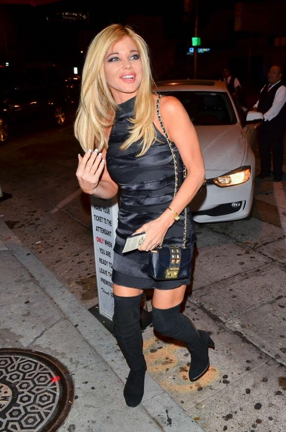 Donna D'Errico 2019 : Donna DErrico and Frankie-Jean Sixx – Seen outside Craigs in West Hollywood-11