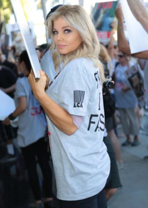 Donna D'Errico - Anti-Fur Protest March in Beverly Hills