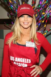 Donna D'Errico - Christmas Celebration on Skid Row at Los Angeles Mission