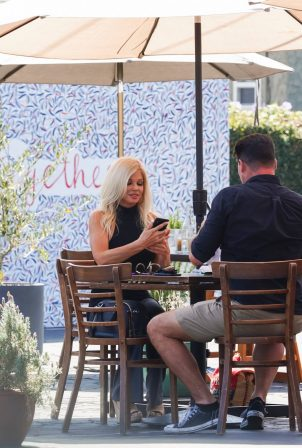 Donna D'Errico - Seen on a lunch at Mauro Cafe in West Hollywood