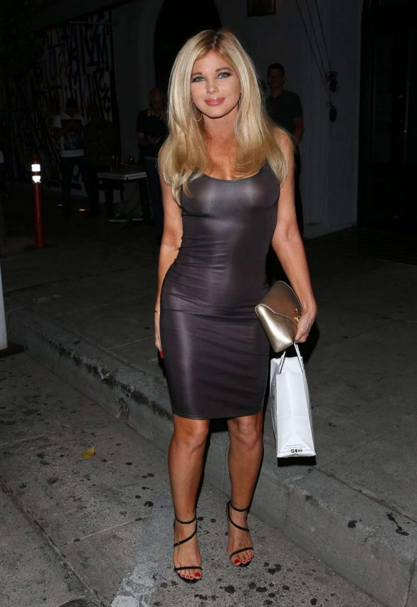 Donna D'Errico - Was seen in a tight dress while leaving 'Craigs' Restaurant in West Hollywood