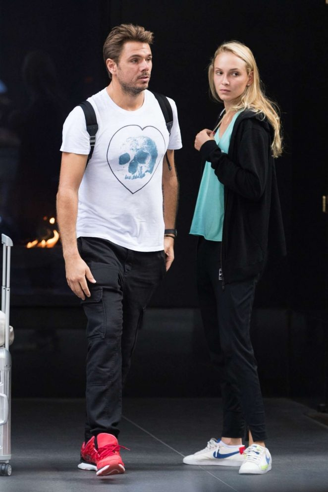 Donna Vekic and Stanislas Wawrinka - Out in New York