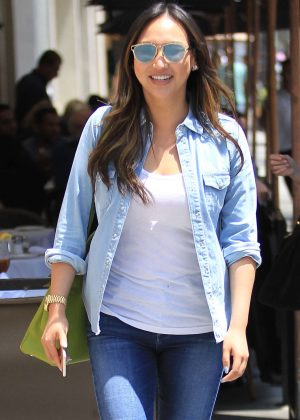 Dorothy Wang in Jeans Out for lunch in Beverly Hills