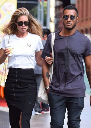 Doutzen Kroes and husband Sunnery James - out in SoHo