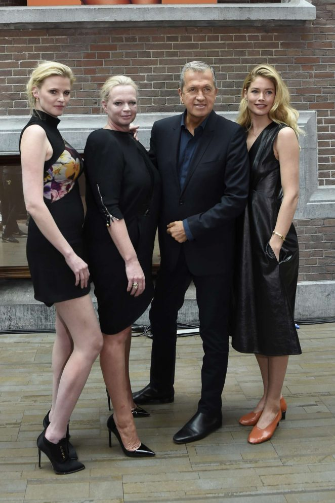 Doutzen Kroes and Lara Stone at Vogue Issue Lounge in Amsterdam