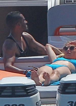 Doutzen Kroes in Blue Bikini -08