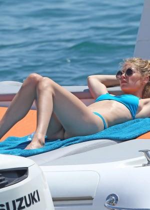 Doutzen Kroes in Blue Bikini -09