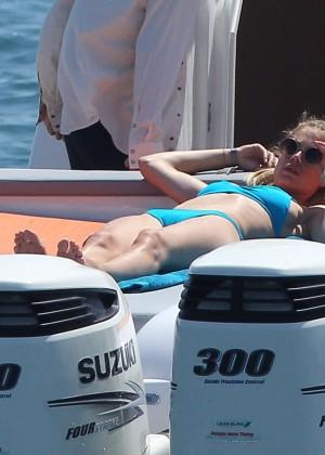 Doutzen Kroes in Blue Bikini -11