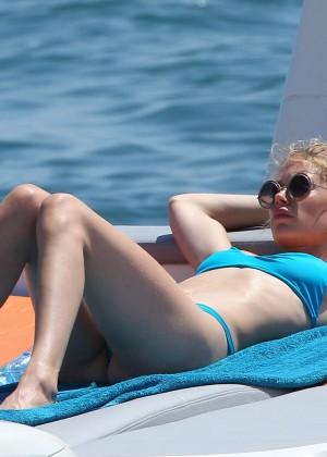 Doutzen Kroes in Blue Bikini -16
