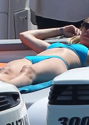 Doutzen Kroes in Blue Bikini -17