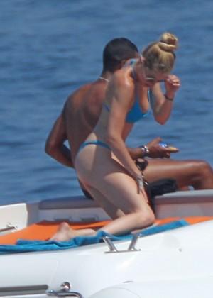 Doutzen Kroes in Blue Bikini -19