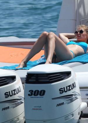 Doutzen Kroes in Blue Bikini -23