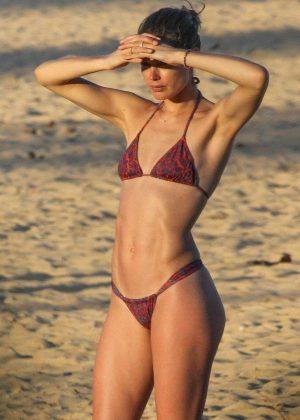 Doutzen Kroes in Bikini on Bahia beach in Brazil