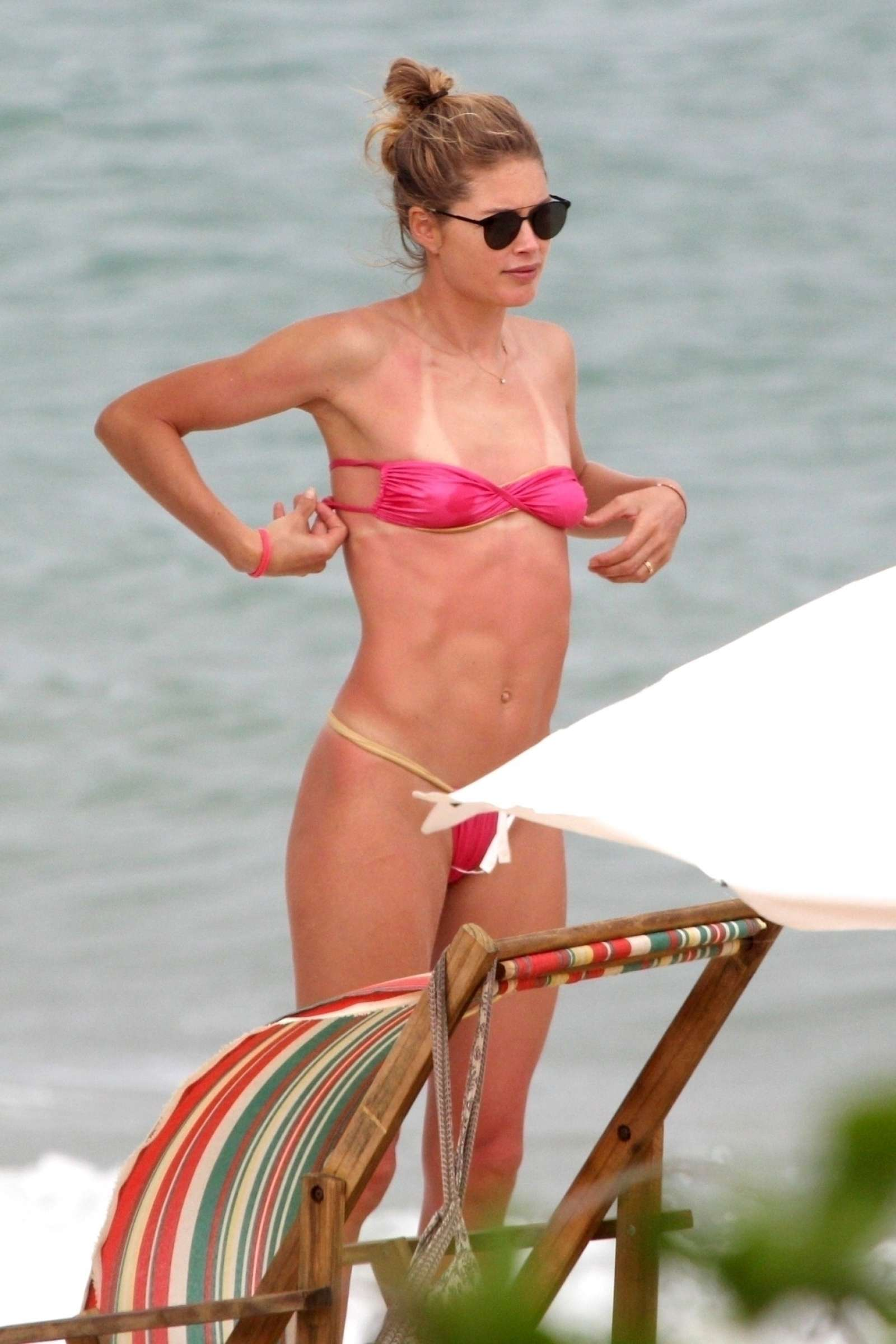 Doutzen Kroes in Bikini on the beach in Bahia