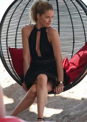 Doutzen Kroes in Mini Dress out in Cannes