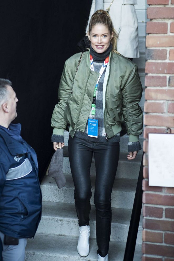 Doutzen Kroes in Tight Pants out in Amsterdam