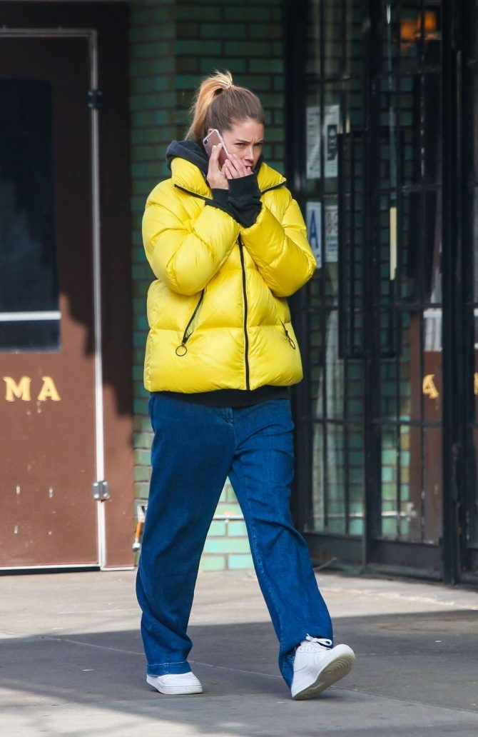 Doutzen Kroes in Yellow Jacket -02