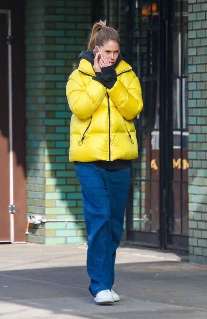 Doutzen Kroes in Yellow Jacket -05