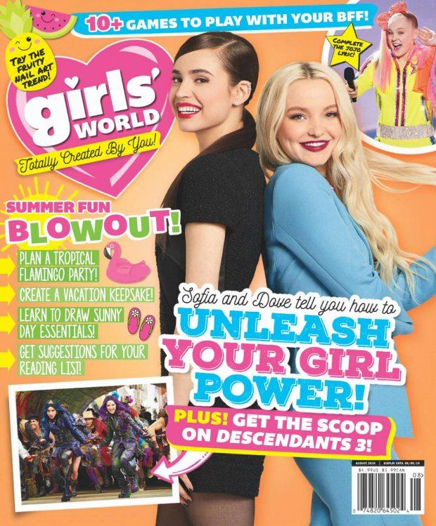 Dove Cameron and Sofia Carson - Girls' World Magazine (August 2019)