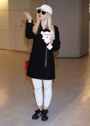 Dove Cameron - Arriving at Narita Airport in Tokyo