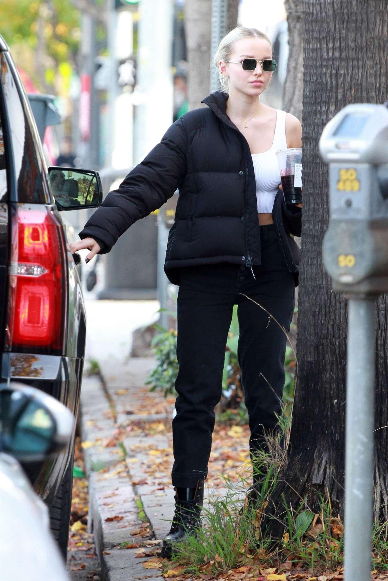 Dove Cameron 2019 : Dove Cameron – Filming a scene in Los Angeles-33