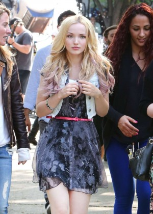 Dove Cameron - Filming 'Shawn Mendes' Music Video In Toronto
