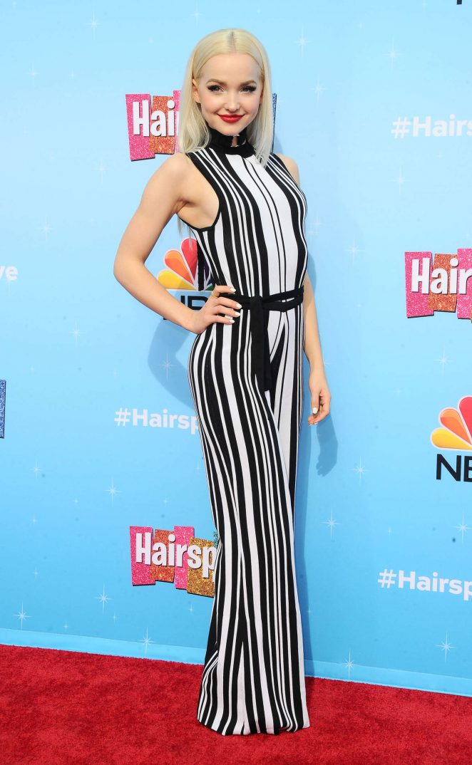 Dove Cameron - 'Hairspray Live!' Press Junket in Universal City