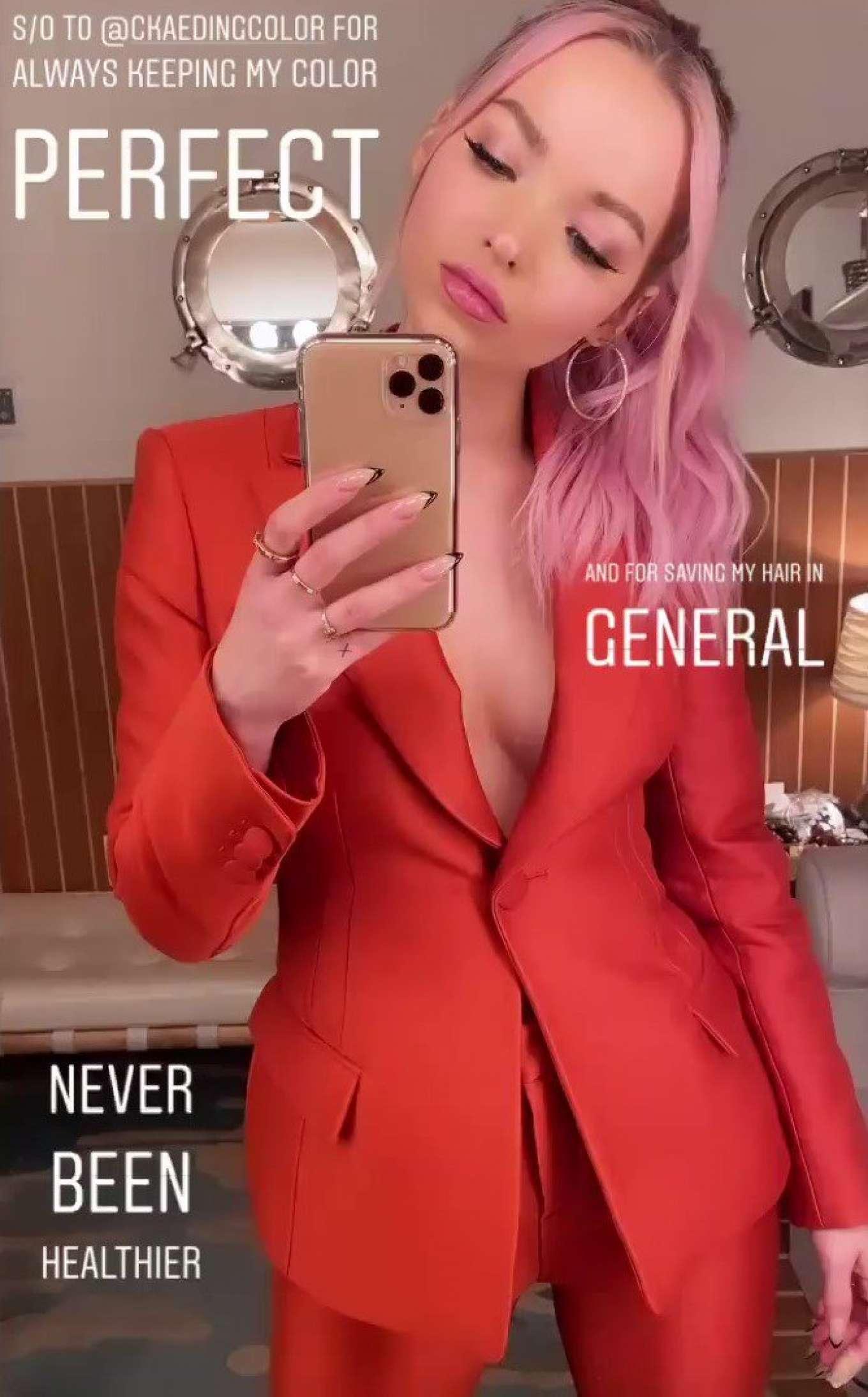 Dove Cameron 2019 : Dove Cameron in Red Jacket – Instagram-01