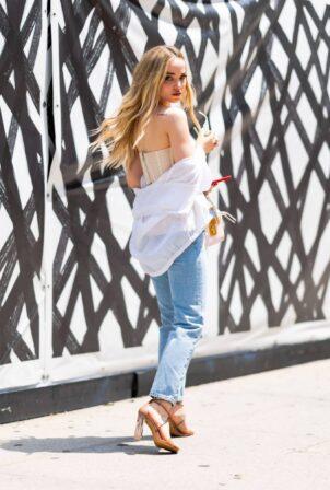 Dove Cameron - is seen in Midtown in New York City