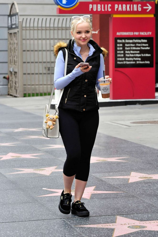 Dove Cameron - Leaving an early breakfast meeting in Hollywood